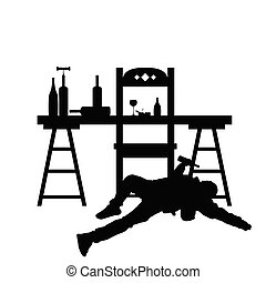 man drunk silhouette in black color illustration