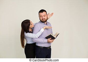man en vrouw, zaken partners
