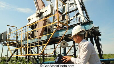 Man (engineer) with securities for