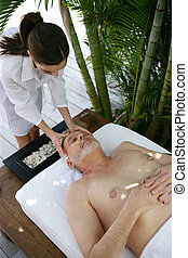 Man enjoying a massage