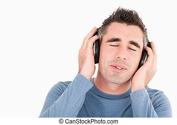 Man enjoying some music