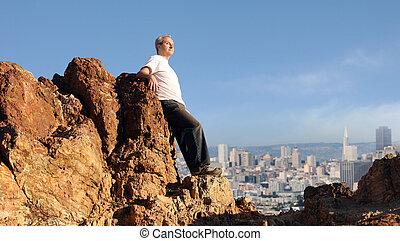 Man enjoying the view