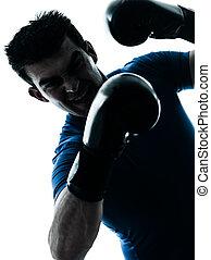 man exercising boxing boxer posture