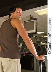 Man Exercising On Treadmill 6