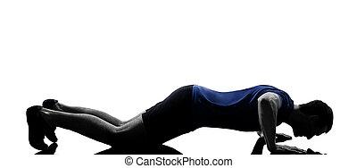 man exercising workout push ups