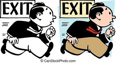 Man Exiting