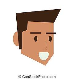 man face head