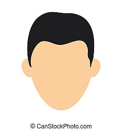 man faceless head isolated vector illustration graphic...