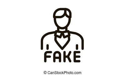 man fake photo Icon Animation