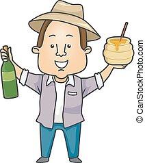 Man Farmer Honey Wine