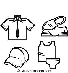 Man fashion details - Set of man fashion and cloth details...