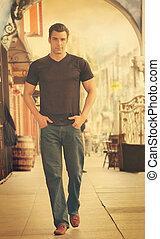 Man fashion walk