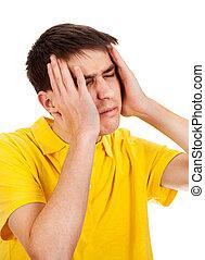 Man feel a Headache