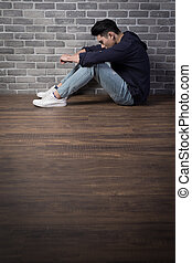 man feel depressed