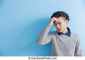 man feel headache