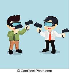 Man fighting game using virtual
