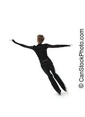 figure skater  - man figure skater on a white background