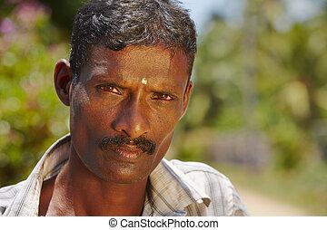 Man from Sri Lanka - Portrait of man from Sri Lanka -...