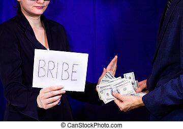 Man gives a bribe