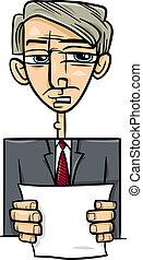 man giving speech cartoon illustration - Cartoon...