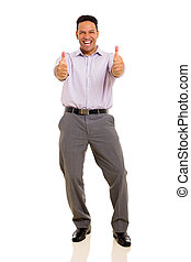 man giving thumbs up - cheerful man giving thumbs up on...