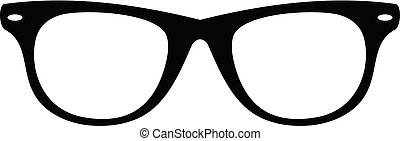 Man glasses icon, simple style.