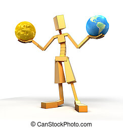 Man, Globe and Gold
