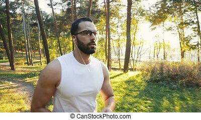 Man Goes Jogging in Park