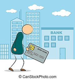 Man going to bank