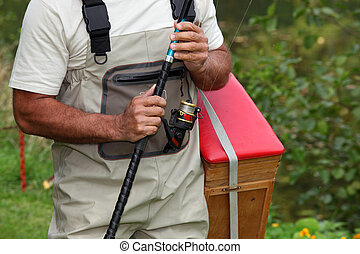 man going to fish