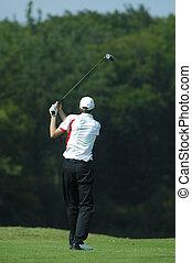 man golfer doing a swing