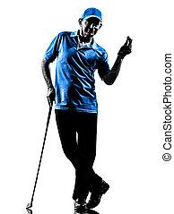 man golfer golfing silhouette