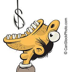 Man greedy for money
