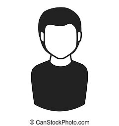 man guy boy person face head hair icon vector graphic