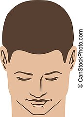 Man hairstyle head