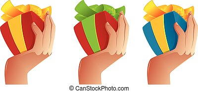 Man Hand Holding a Gift