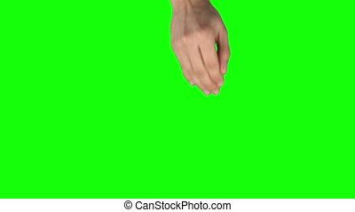 Man hand is performing 4x swipe left and 3x Swipe Up at ...