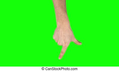 Man hand is performing Spread at tablet screen gesture on ...