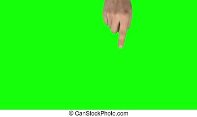 Man hand is performing swipe down and double swipe down at ...