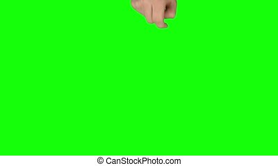 Man hand is performing Swipe Up at tablet screen gesture on ...