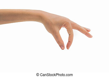 Man hand isolated on white background with clipping path