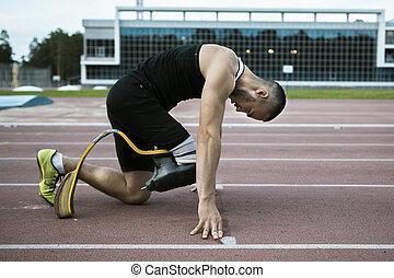 Man handicap athlete