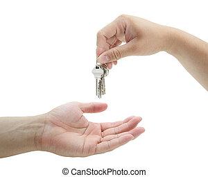 Man Handing Over the Set of Keys