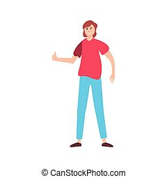 man happy young people on white background