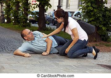Man has heart attack or stroke