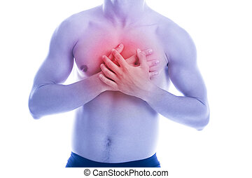 Man has heart pain in chest
