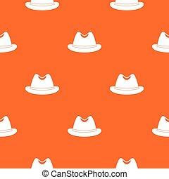Man hat pattern seamless