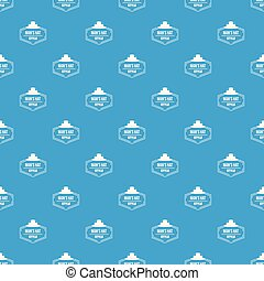 Man hat pattern vector seamless blue repeat for any use