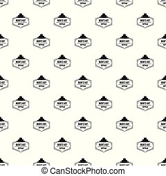 Man hat pattern vector seamless repeat for any web design