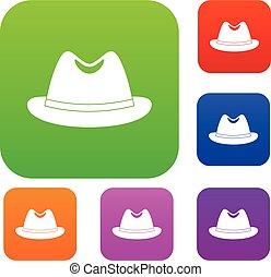 Man hat set color collection